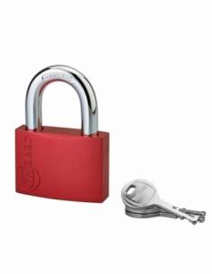 Cadenas à clé Colorful, laiton, intérieur, anse acier, 60mm, 3 clés - THIRARD Cadenas à clé
