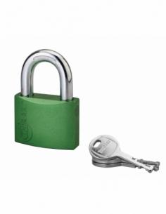 Cadenas à clé Colorful, laiton, intérieur, anse acier, 50mm, 3 clés - THIRARD Cadenas à clé