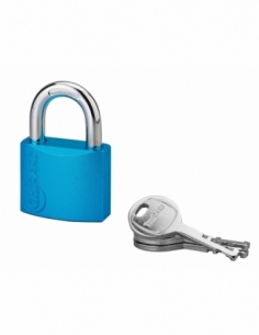 Cadenas à clé Colorful, laiton, intérieur, anse acier, 40mm, 3 clés - THIRARD Cadenas à clé