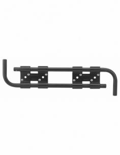 Double barre de sécurité pour volet bois, acier, Ø16x430mm, zingué noir - THIRARD Barre de sécurité de volet