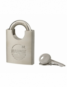 Cadenas à clé Marinox, inox, exérieur, anse protégée inox, 60mm, 2 clés - THIRARD Cadenas à clé