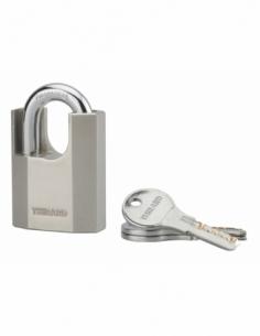 Cadenas à clé Octo-P, acier, chantier, anse protégée acier, 50mm, 3 clés - THIRARD Cadenas à clé