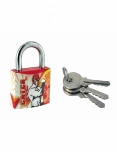 Cadenas à clé Line Sport Catch, acier, intérieur, anse acier, 30mm, 3 clés - THIRARD Cadenas à clé