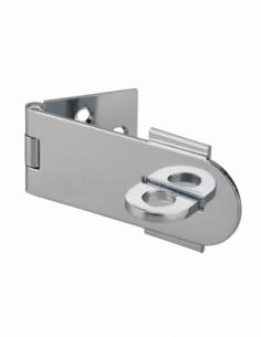 Porte-cadenas à recouvrement, laiton chromé, fermeture de coffres et portes - THIRARD Cadenas