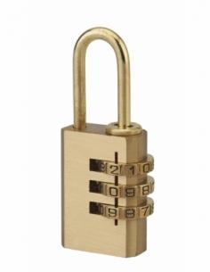 Cadenas à combinaison 208, 3 chiffres, laiton, intérieur, anse laiton, 21mm - THIRARD Cadenas à code