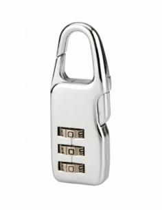 Cadenas à combinaison Swish, 3 chiffres, intérieur, anse acier, 21mm, nickelé - THIRARD Cadenas à code