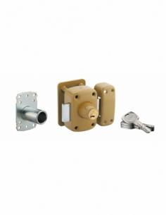 Verrou double entrée Transit 2 A2P* pour porte d'entrée, cylindre 45mm, acier, 4 clés, époxy bronze - THIRARD Verrou de porte