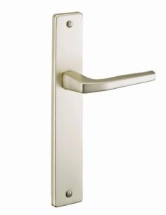 Ensemble de poignées pour porte intérieure Picardie sans trou, carré 7mm, entr'axes 195mm, champagne - THIRARD Poignée de porte
