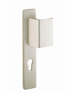 Ensemble de poignées pour porte d'entrée palière renf. Picardie trou cylindre, carré 7mm, entr'axes 195mm, couleur F2 - THIRA...