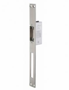 Gâche électrique encastrable à impression pour porte bois et métal, réversible, 12/24V, inox - THIRARD Gâche de porte