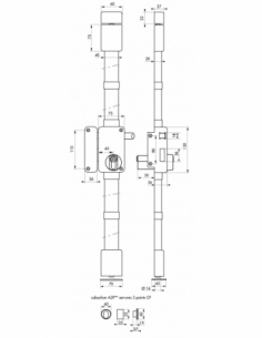 Serrure en applique Beluga A2P** à tirage pour entrée, gauche, 3pts, Cobra 31x56mm, axe 45mm, marron, 4 clés - THIRARD Serrur...