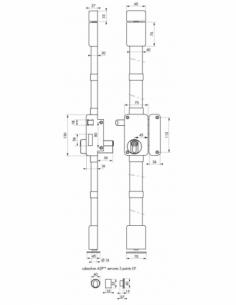 Serrure en applique Beluga A2P** à tirage pour entrée, droite, 3pts, Cobra 31x56mm, axe 45mm, blanc, 4 clés - THIRARD Serrure...