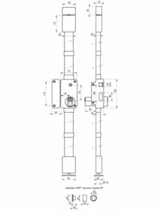 Serrure en applique Beluga A2P** à fouillot pour entrée, gauche, 3pts, Cobra 31x56mm, axe 45mm, marron, 4 clés - THIRARD Serr...