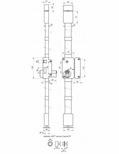 Serrure en applique Beluga A2P** à fouillot pour entrée, droite, 3pts, Cobra 31x56mm, axe 45mm, marron, 4 clés - THIRARD Serr...