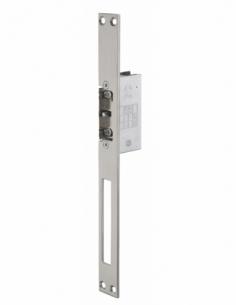 Gâche électrique encastrable à impression 2 temps pour porte bois et métal, réversible, 12/24V, inox - THIRARD Gâche de porte