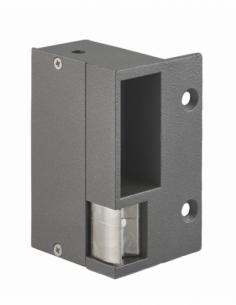 Gâche électrique pour serrure horizontale en applique, gauche, 12/24V, gris - THIRARD Gâche de porte