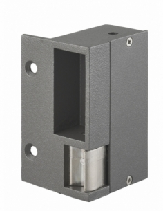 Gâche électrique pour serrure horizontale en applique, droite, 12/24V, gris - THIRARD Gâche de porte