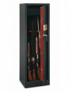 Armoire à fusil Monteria, fermeture électronique à code, 4 pênes, capacité de 10 fusils - THIRARD Coffre fort