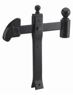 Arrêt de porte à sceller, à bascule, acier, 310mm, noir - THIRARD Butée de porte