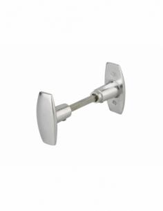 Paire de boutons pour porte, carré 6mm, fourreau adaptateur 7mm - THIRARD Poignée de porte