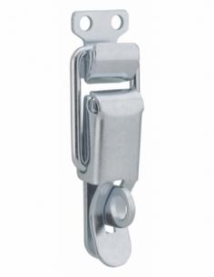Fermeture à levier avec crochet cadenassable, acier, H.84mm, zingué - THIRARD Targette