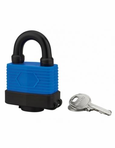 Cadenas à clé Slice, acier, extérieur, anse acier, 50mm, 2 clés - THIRARD Cadenas