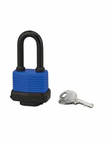Cadenas à clé Slice, acier, extérieur, anse 1/2 acier, 40mm, 2 clés - THIRARD Cadenas