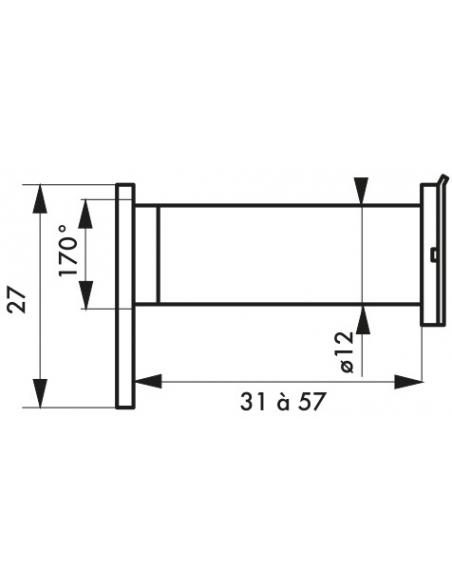 JUDAS 170° laiton chromé - THIRARD Equipement