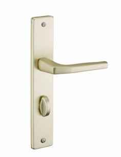 Ensemble de poignées pour porte intérieure Picardie à condamnation, carré 8mm, entr'axes 195mm, couleur F2 - THIRARD Poignée