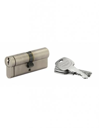 Cylindre de serrure double entrée HG5+, 40x40mm, nickel, anti-arrachement, anti-perçage, anti-casse, 5 clés - THIRARD Cylindr...