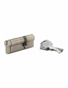 Cylindre de serrure double entrée HG5+, 30x60mm, nickel, anti-arrachement, anti-perçage, anti-casse, 5 clés - THIRARD Cylindr...