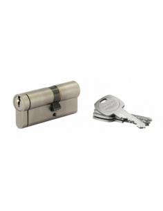 Cylindre de serrure double entrée HG5+, 30x40mm, nickel, anti-arrachement, anti-perçage, anti-casse, 5 clés - THIRARD Cylindr...