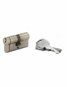 Cylindre de serrure double entrée HG5+, 30x30mm, nickel, anti-arrachement, anti-perçage, anti-casse, 5 clés - THIRARD Cylindr...