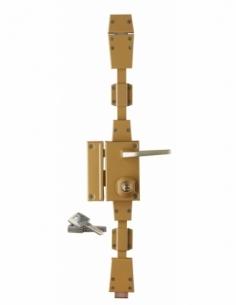 Serrure en applique à cylindre à fouillot pour entrée, 3 pts, gauche, bronze, 4 clés réversibles - Serrurerie de Picardie Ser...