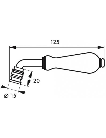 Paire de béquilles porcelain, carré 7mm - Serrurerie de Picardie Poignée