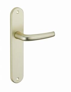 Ensemble de poignées pour porte intérieure Maia sans trou, entr'axes 195mm, couleur F2 - Serrurerie de Picardie Poignée