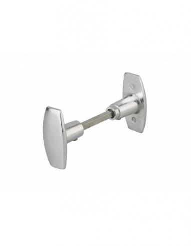 Paire de bouton pour porte d'entrée, carré 6mm, 1 portée - Serrurerie de Picardie Poignée
