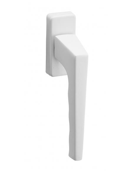 Paire de béquilles pour fenêtre, avec vis de pose, carré 7mm, aluminium, blanc - Serrurerie de Picardie Poignée