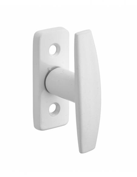 Bouton pour fenêtre Hebe, carré 7mm, blanc - Serrurerie de Picardie Poignée