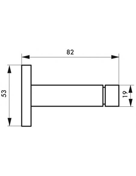 Butoir ballustre chromé, longueur 80mm - Serrurerie de Picardie Equipement