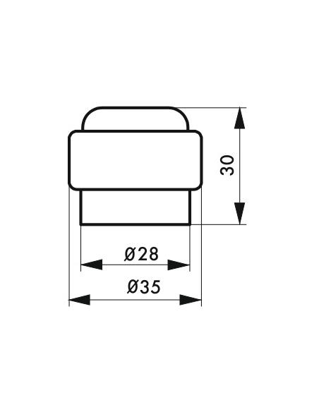 Butoir de sol plastique Ø 35mm - Serrurerie de Picardie Equipement