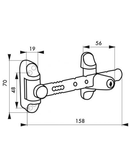 Entrebailleur de fenêtre, 1 ou 2 vantaux, bouton poussoir, blanc - Serrurerie de Picardie Equipement