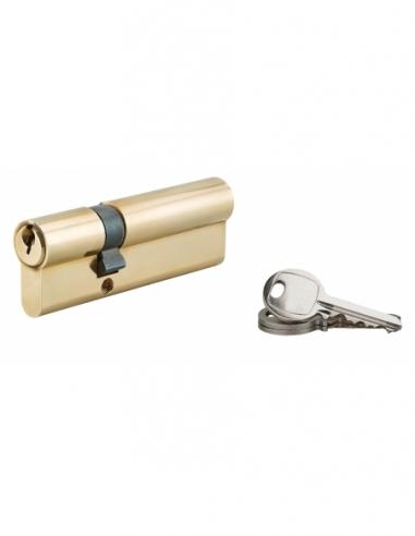 Cylindre de serrure à double entrée, 30x60mm, laiton, 3 clés - Serrurerie de Picardie Cylindre de serrure