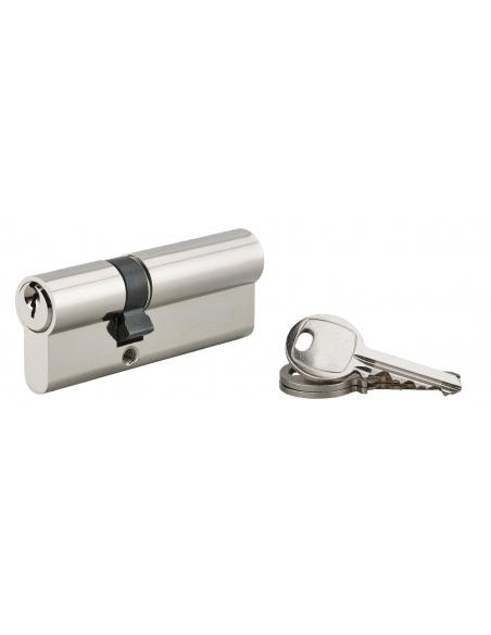 Cylindre de serrure à double entrée, 30x50mm, nickel, 3 clés - Serrurerie de Picardie Cylindre de serrure