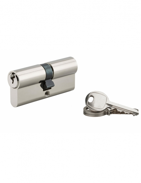 Cylindre de serrure à double entrée, 35x35mm, nickel, 3 clés - Serrurerie de Picardie Cylindre de serrure
