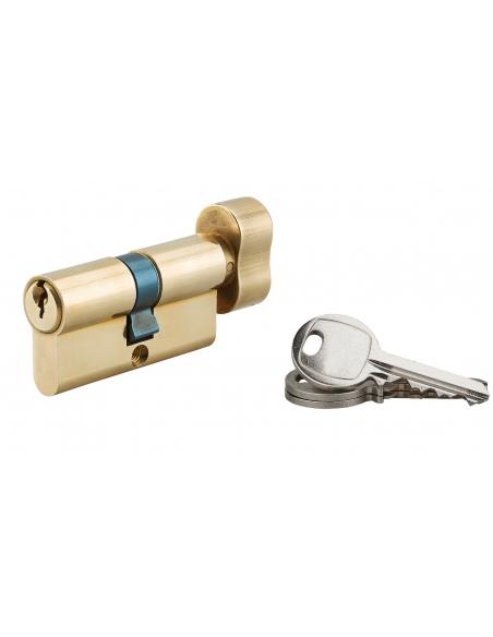 Cylindre de serrure à bouton, 30Bx30mm, laiton, 3 clés - Serrurerie de Picardie Cylindre de serrure