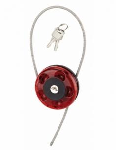 Cadenas à clé, intérieur, câble enrouleur, intérieur, inox, gainé PVC, Ø0.75m, 2 clés - Serrurerie de Picardie Cadenas