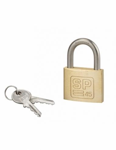 Cadenas à clé SP, anti-corrosion, 45 mm anse inox, 2 clés laiton - Serrurerie de Picardie Cadenas