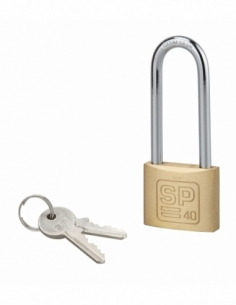 Cadenas à clé SP, intérieur, 40 mm, anse 1/2 haute acier cémenté, 2 clés - Serrurerie de Picardie Cadenas