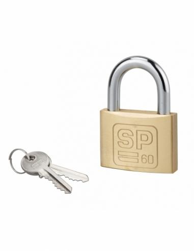 Cadenas à clé SP, chantier, 60 mm, anse acier cémenté nickelé, 2 clés - Serrurerie de Picardie Cadenas